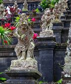 Statues at the Mother Temple of Besakih. Largest hindu temple of Bali