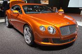 GENEVA - MARCH 8: The New Bentley Continental GT on display at the 81st International Motor Show Pal