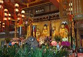 picture of lantau island  - Interior of the Po Lin monastery on Lantau Island  - JPG