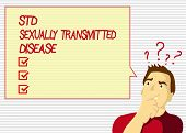 Handwriting Text Std Sexually Transmitted Disease. Concept Meaning Infection Spread By Sexual Interc poster