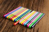 Assortment Of Colored Pencils/colored Drawing Pencils/colored Drawing Pencils In A Variety Of Colors poster