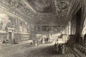 stock photo of luigi  - Antique illustration of Sala dei Pregadi - JPG