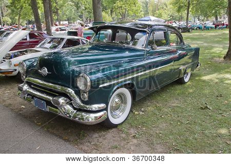 Blue Oldsmobile