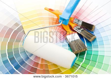 Brushes And Paint-Roller