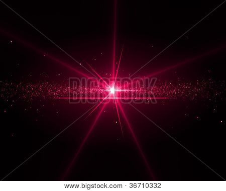 Background with a magenta star in the middle
