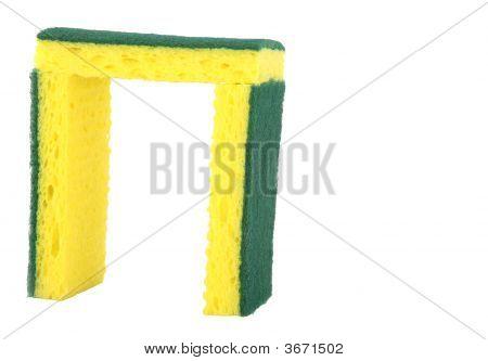 Yellow Sponge Scrubbers