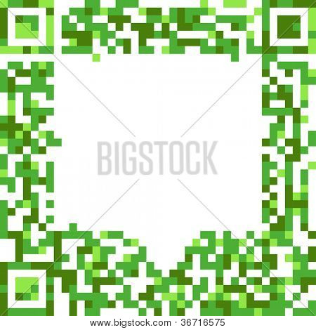 Abstract speech cloud of qr-code
