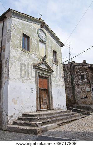 Church of SS nome di Ges�. Calcata. Lazio. Italy.