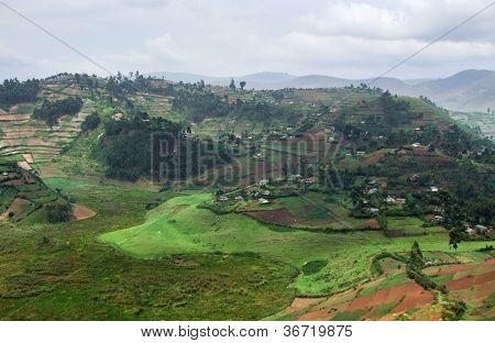 Virunga Mountains Aerial View