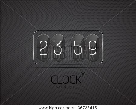 Vector glass clock