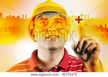 Construction Engineer With Touch Screen