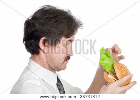 Man Will Get From Hamburger Sheet Salad