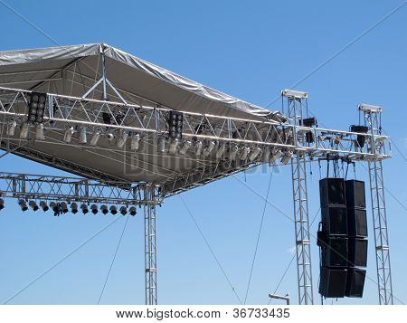 Outdoor Stage Light And Sound