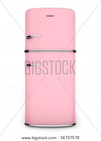 Retro pink refrigerator
