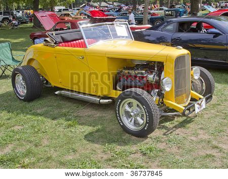 1938 Yellow Ford Roadster
