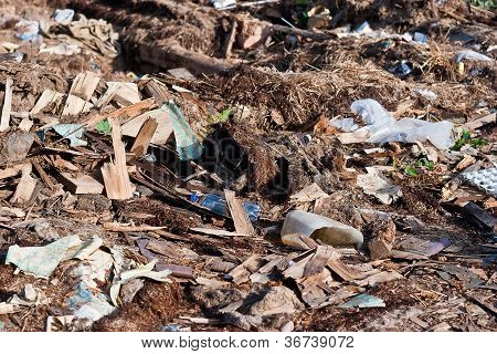 Uma pilha de detritos