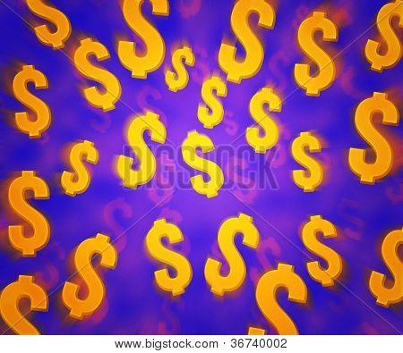 Violet Dollars Background