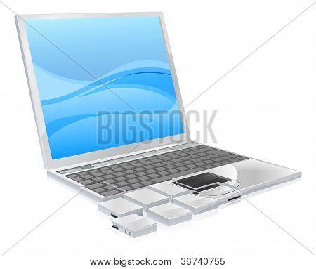 Laptop Pieces Concept