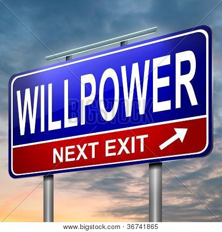 Willpower Concept.