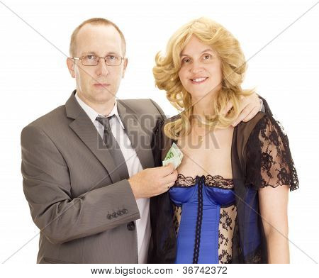 Business Person Having Fun With A Romantic Woman