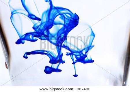 Ink Haze In Water Glass
