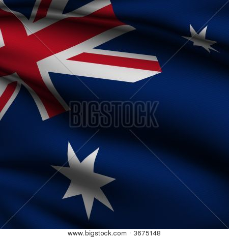 Rendered Australian Square Flag