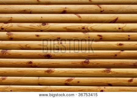 Parallel Polished Wooden Logs