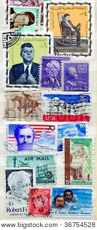 Collection of American postage stamps