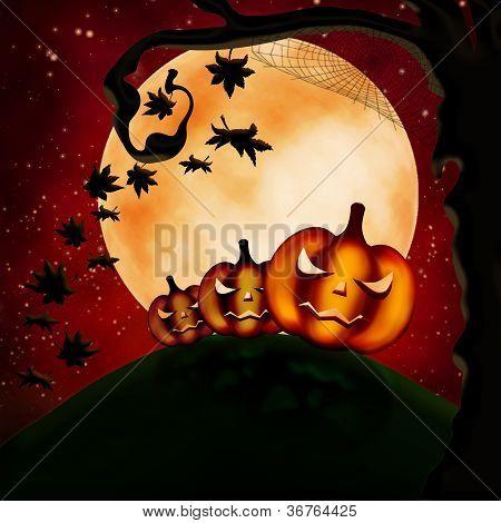 Three Terrible Pumpkins