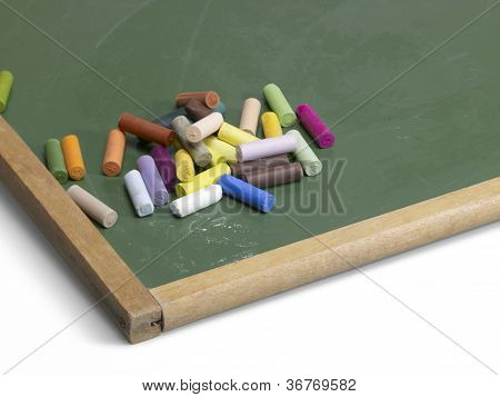 Blackboard And Crayons