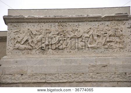 Frieze Sculpture Of Roman Battle