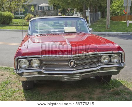 Vintage Red Buick Front View