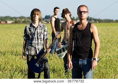 Rock Band In Field