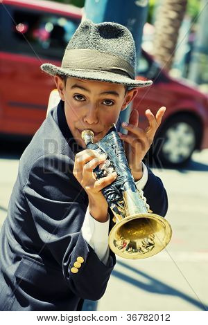 Gabriel Angelo, Trumpet Player, Street Performer