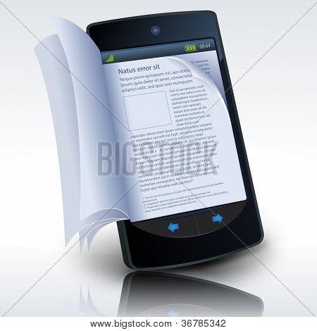 Smartphone E-book