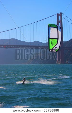 Kiteboarder in San Francisco