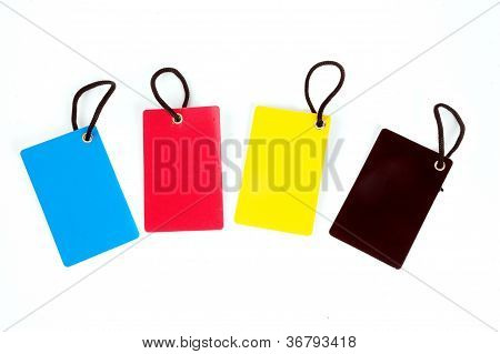 Four Color Blank  Paper Tag