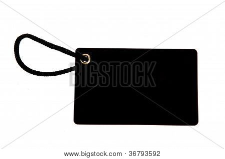 Blank Black Paper Tag