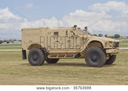 Humvee At Eaa Driving By