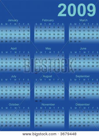 Vector Calendar 2009