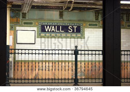 Wall St. Subway Stop, New York