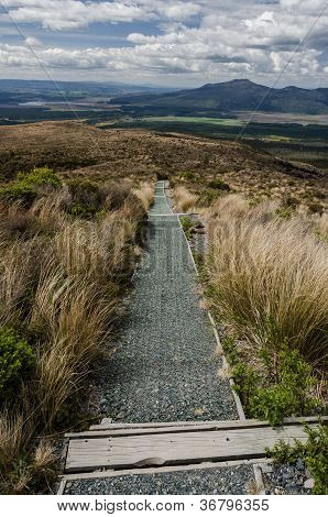 The Road Down From Tongariro National Park, New Zealand