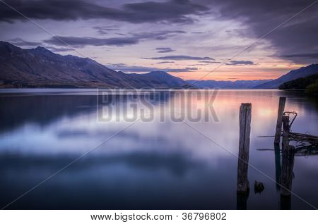 Beautiful Sunset At Lake Wakatipu