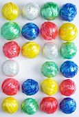 stock photo of waste reduction  - Colorful Ball Creativity by Plastic Rope Recycle - JPG