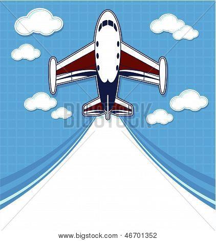 private airplane cartoon