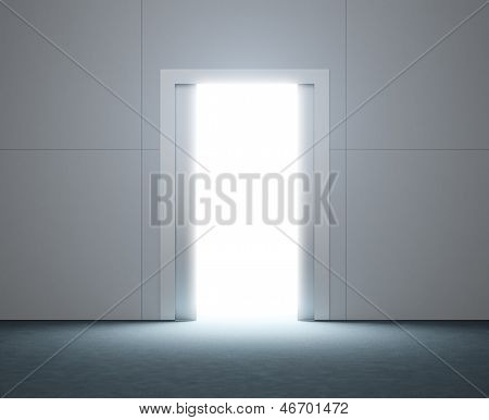 doorway with bright light
