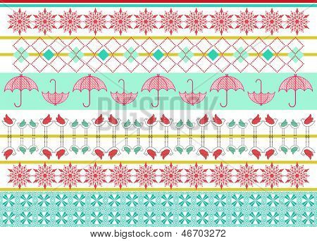 Pattern graphic elements  set
