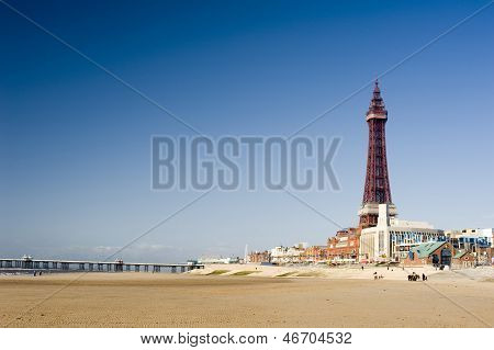 View Of The Beachfront At Blackpool