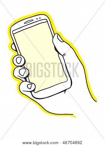 Hand holding smart phone