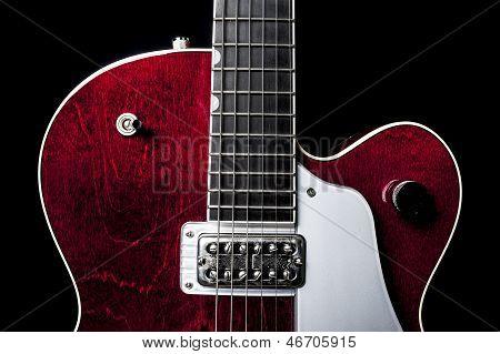 American Red Guitar